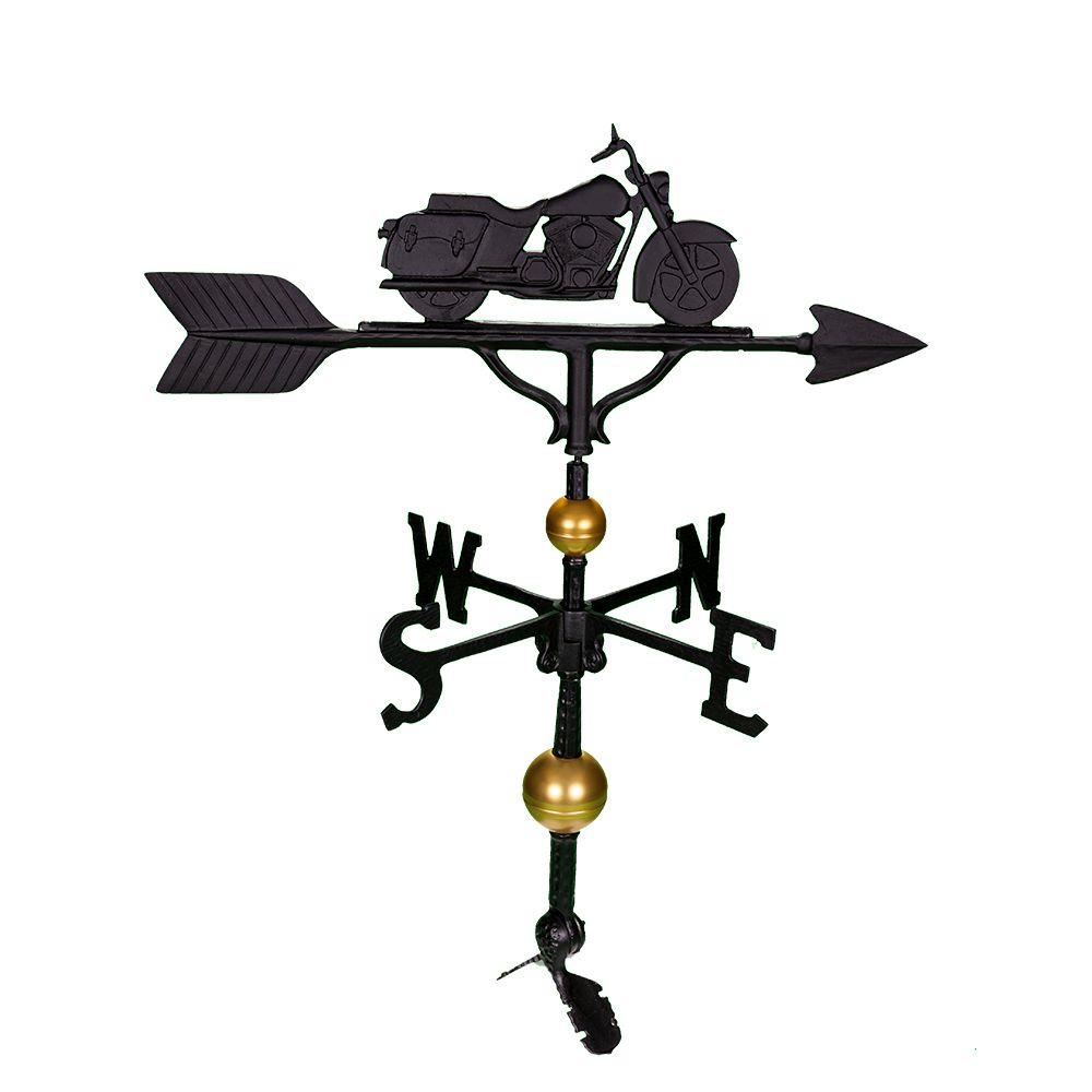 32 in. Deluxe Black Motorcycle Weathervane