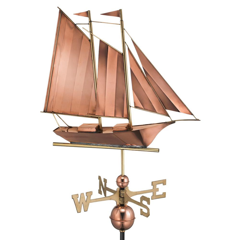 Schooner Weathervane - Pure Copper