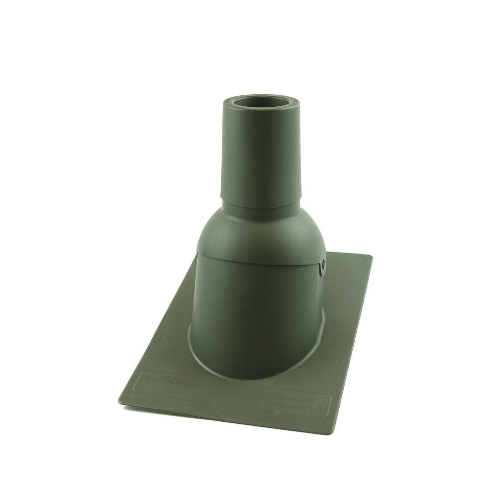 Pipe Boot for 3 in. I.D. Vent Pipe Weatherwood Color New Construction/Reroof