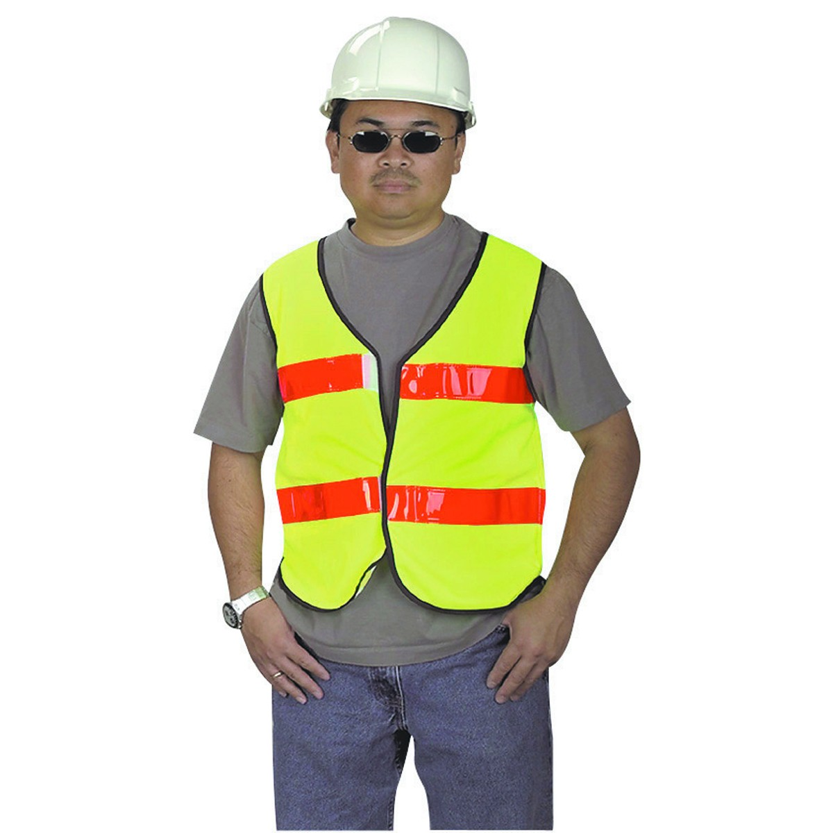 Bright Yellow Reflective Vest