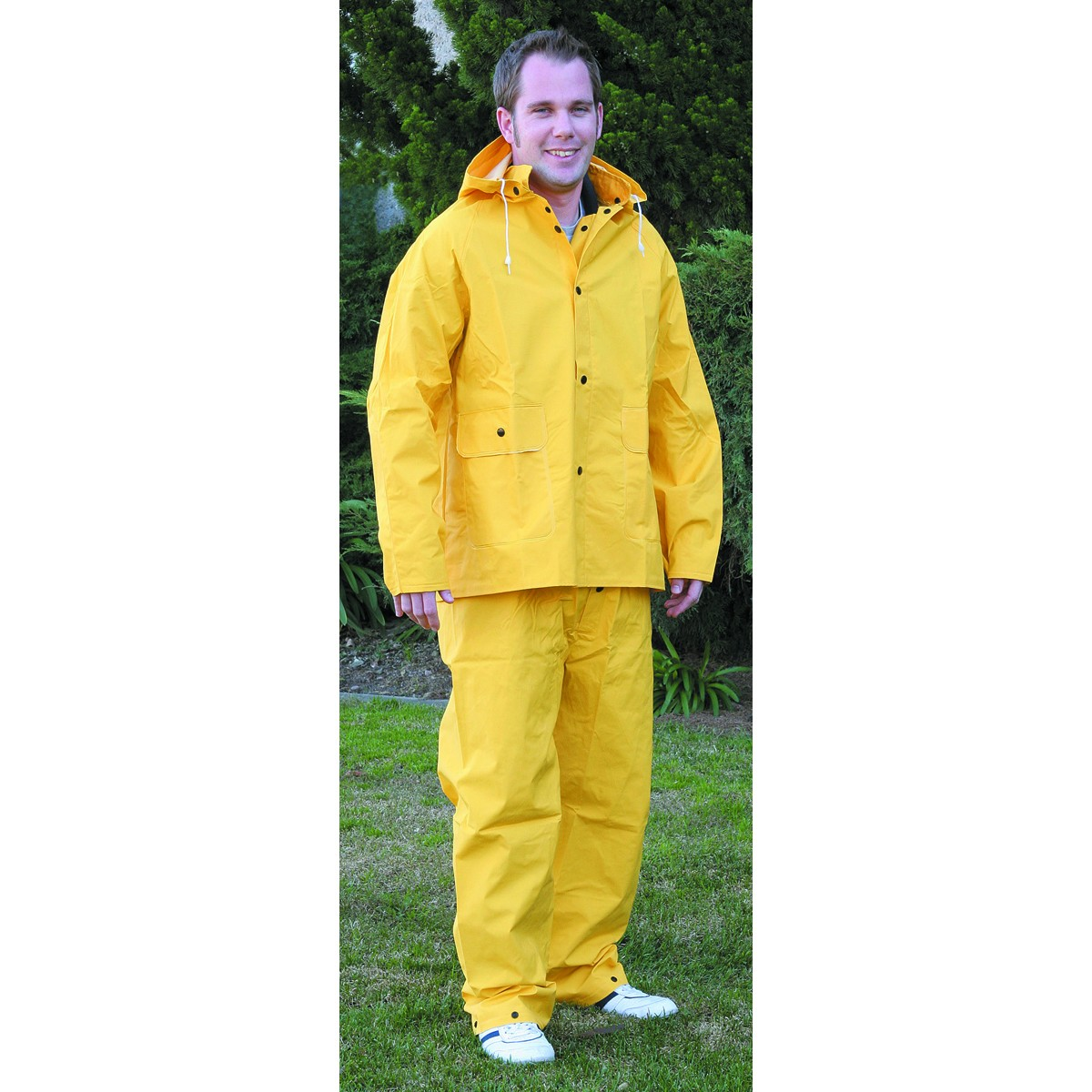 2 Piece Yellow Rain Suit, Medium